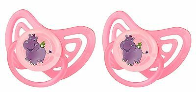 2 x Tétine Orthodontique Hippo rose ab 6 Mois Taille 2
