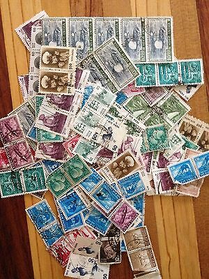 Assorted Stamps from India - Joiners - Blocks