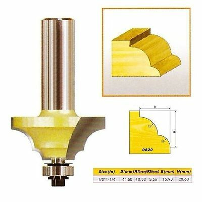 "Double Round-Over Edging Router Bit NO.1 - 1/2*1-1/4 - 1/2"" Shank -Holzfräser"
