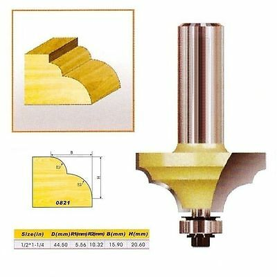 "Double Round-Over Edging Router Bit NO.2 - 1/2*1-1/4 - 1/2"" Shank -Holzfräser"
