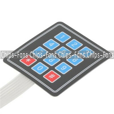 Matrix Array 12 Key Membrane Switch Keypad Keyboard For Arduino AVR 4 x 3