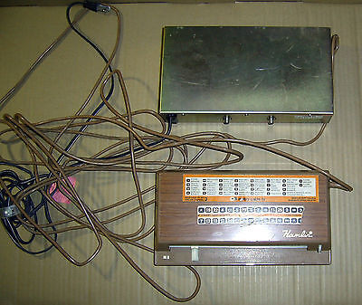 Vintage HAMLIN  MCC-2000-3R Cable TV Converter and Wired Remote Control
