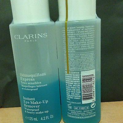 CLARINS Instant Eye Make Up Remover - New - 2 x 125 ml