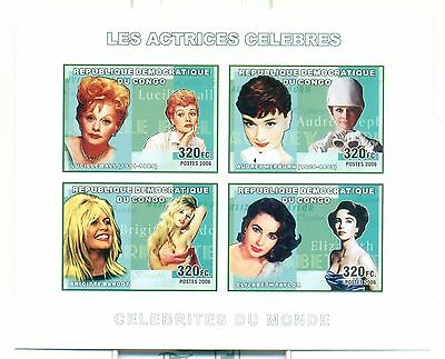 ACTRESSES - CONGO 2006 set imperforated