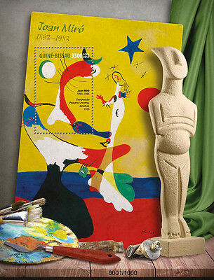 Guinea-Bissau 2016 MNH Joan Miro 1v S/S Composition Universe Paintings Stamps