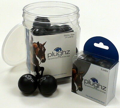 Plughz Soft Ear Plugs For Horse Pony Hearing Protection Safety Gear Foam 2 Pairs