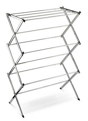 Stainless Steel Foldable Laundry Clothes Drying Rack Indoor Hanger New #031-802