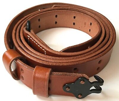 Wwii Us M1 Garand Rifle Leather Carry Sling