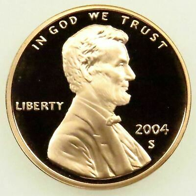 "2004 S Lincoln Memorial Cent Gem Deep Cameo Proof Penny US Mint Coin ""STUNNING!"""