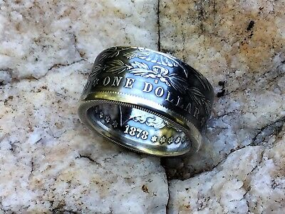 Morgan Silver Dollar HandCrafted Coin Ring. You pic size 10-15