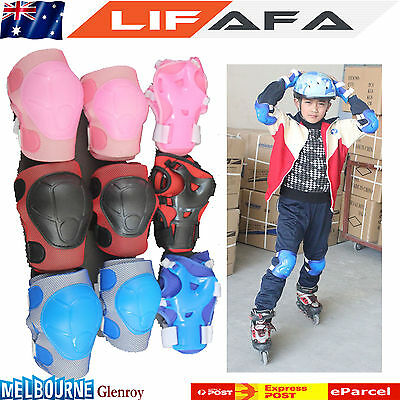 Knee Elbow Wrist Protective Guard Pad Kid Child Skating inline Gear 6 pieces set
