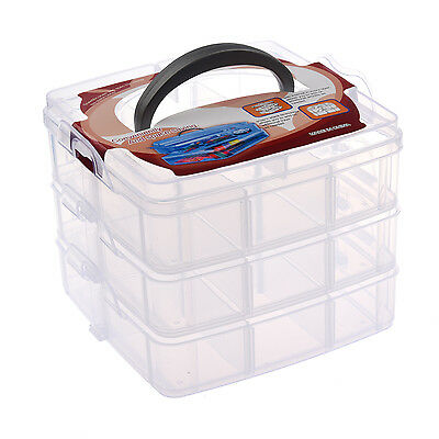 HE Nail Art Makeup Cosmetics Container Storage Box Case