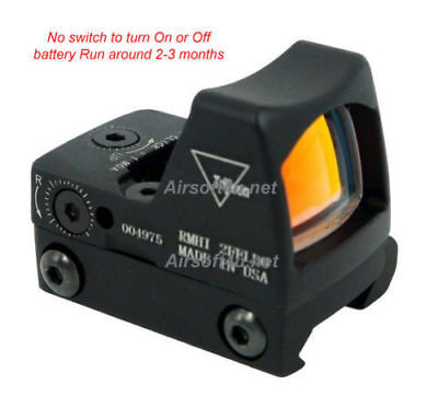Tactical Airsoft RMR-Style Mini Micro Red Dot Sight fit 20mm rail