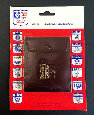 'NEW' 1980's VFL Sydney FC the SWANS  PVC Wallet with coin purse. 10 X 8.5 cm