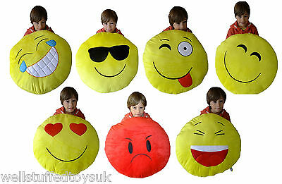 """Huge Giant Large Smiley Emoticon Cushion Pillow 50cm 20"""" Heart Eyes Goofy Kiss"""