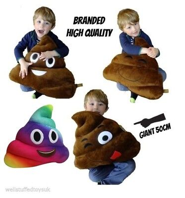 "Huge Giant Massive Large Poo Poop Cushion Pillow 50cm 20"" Quality Branded"