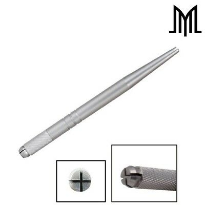 Aluminium Microblading Pen - Manual Microblade Needle Holder - Lightweight Slim