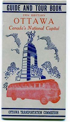 Ottawa Guide & Tour Book 1954 Edition Canada National Capital Map Advertising