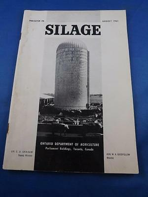 Information Brochure Silage Farming Ontario Department Agriculture 1961