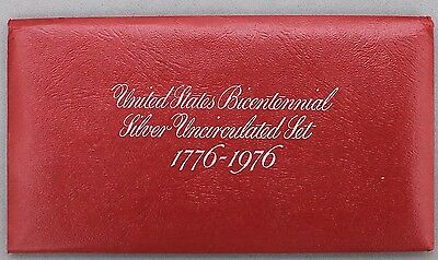 """1976 S US Bicentennial Mint Set """"Red Pack"""" Envelope with COA (No Coins)"""
