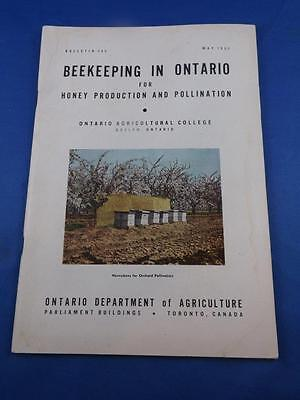 Beekeeping In Ontario Info Instruction Book Ontario Department Agriculture 1952