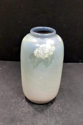 "Rookwood Vellum Glaze Vase With Apple Blossoms, Margaret McDonald - 5 7/8""- MINT"