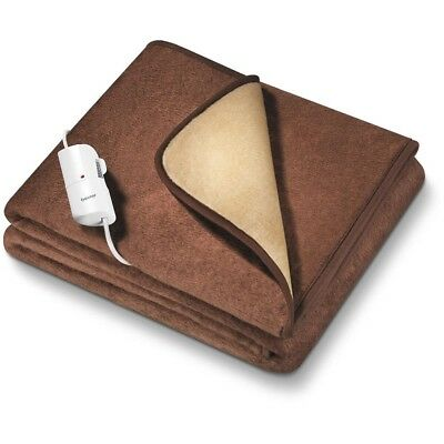 Beurer HD 100 Electric Blanket Brown With 6 Temoerature Levels GENUINE NEW