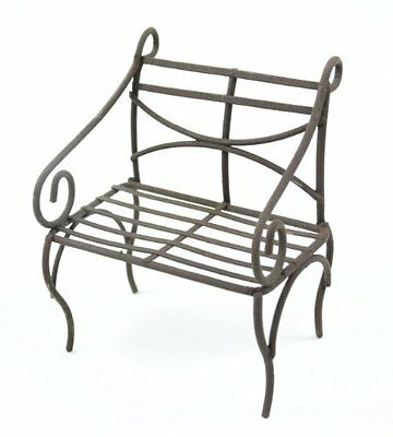 Touch of Nature Mini Iron Fairy Garden Bench, Rustic, New, Free Shipping