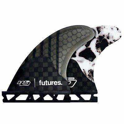 Futures HS3 Haydenshapes Generation Series Thruster Fin Set Black/White Marble