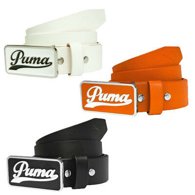 New Puma Golf 2015 Script 100% Leather Fitted Belt - Pick Color & Size!