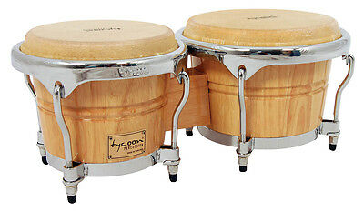 Tycoon Percussion 7 & 8 1/2 Concerto Series Bongos - Natural Finish - TB-800CN
