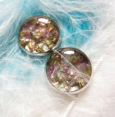ORGONE EARRINGS - violet fluorite - Hope and Balance