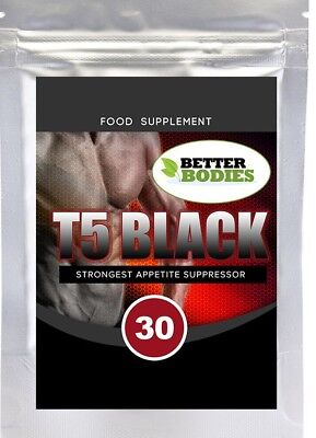 T5 Black Strong Weight Loss Slimming Capsules Diet Pills Appetite Suppressant UK