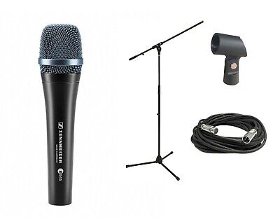 New Sennheiser E945 Vocal Dynamic Stage Studio Mic + FREE Cable & Stand Bundle