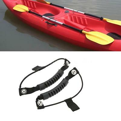 2pcs Rubber Kayak Carry Handle Boat Canoe Handle Fixing Paddle W/0.5cm Cord S3K6