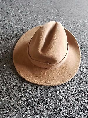 Used Joule and Sons Rabbit Fur Felt Hat Size 6 5/8 Camel