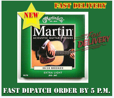 New Martin M170 Acoustic Guitar Strings Bronze Extra Light 010-047