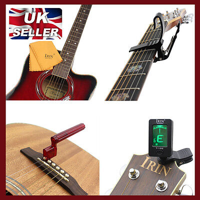 Set of 4 electric Acoustic new  Professional Guitar Accessories bundle kit