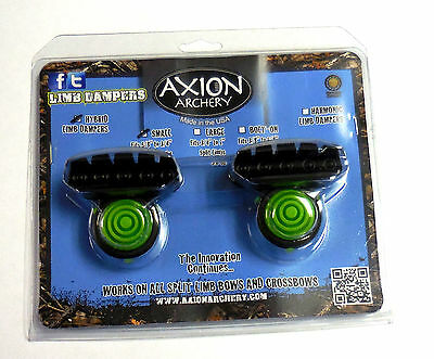 Axion Hybrid Limb Damper Rubber Mount Small, 2.4oz, Lime Green 1 Pair