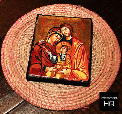 Religious Wall Icon / Picture / Christian - Holy Family - Authentic