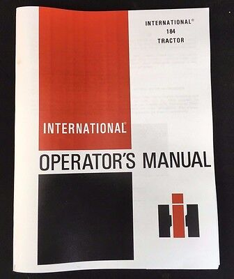 IH International Harvester Cub 184 Lo-Boy Tractor Owner's & Operators Manual