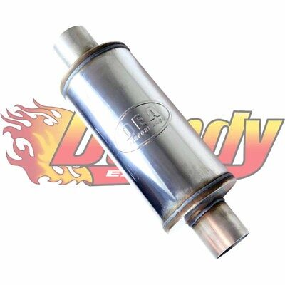 "3.5"" Inch Straight Through Stainless Steel Muffler 7"" Round 14"" Long"