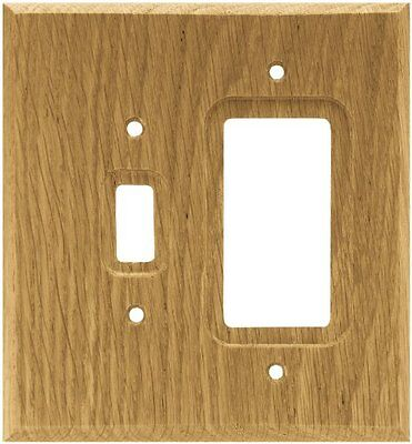 Brainerd 64679 Wood Square Single Toggle Switch/Decorator Wall Plate / Switch Pl
