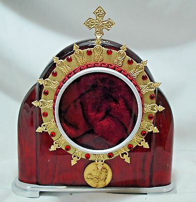 Stunning Double Sided Burgundy Reliquary Box