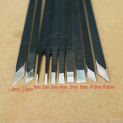 "200mm/7.9"" Flat Bevel angle HSS Wood Carving Knife Seal carving - Select size"