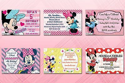 graphic relating to Printable Minnie Mouse Invitations titled Custom made PRINTABLE MINNIE Mouse Birthday Occasion Invites