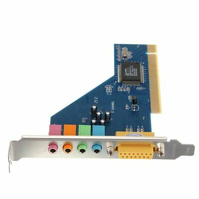 4 Channel 8738 Chip 3D Audio Stereo PCI Sound Card Win7 64 Bit FP7