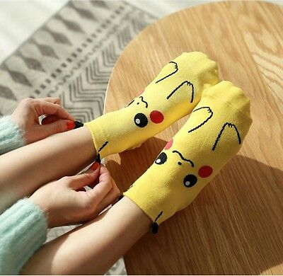 New Unisex Cotton Pocket Monsters Pikachu Character Squirtle Socks