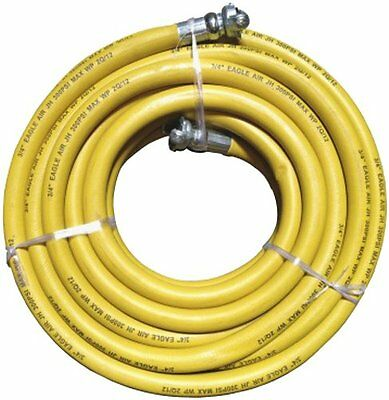 "JGB Eagle Yellow Jackhammer Rubber Air Hose, 3/4"" Universal (Chicago) Couplings,"