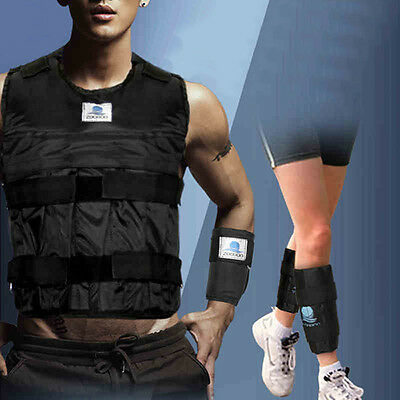 Workout 44LBS/20KG Weighted Vest (Empty)+Leg Ankle Hand Wrist Exercise Training